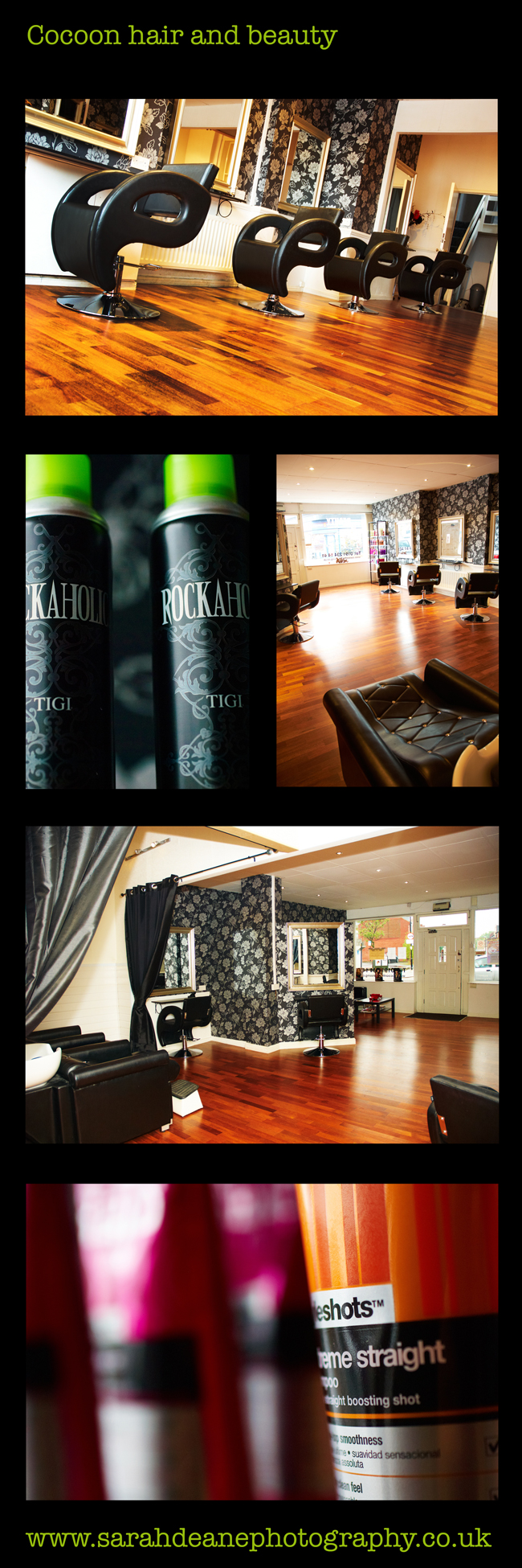 Cocoon Hair and Beauty Salon Interior Photography Newcastle 2