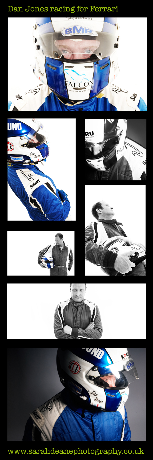 Ferrari racer portrait photography