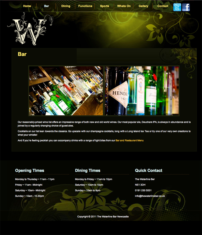 Waterline Website - Bar Commercial Photography