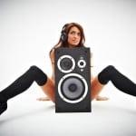 Sophia model shoot with headphones at newcastle studio 1-081
