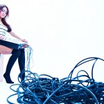Sophia model shoot with headphones at newcastle studio 1-112