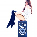 Sophia model shoot with headphones at newcastle studio1 -