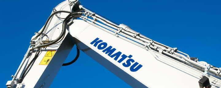 Komatsu paint variants industrial photographs