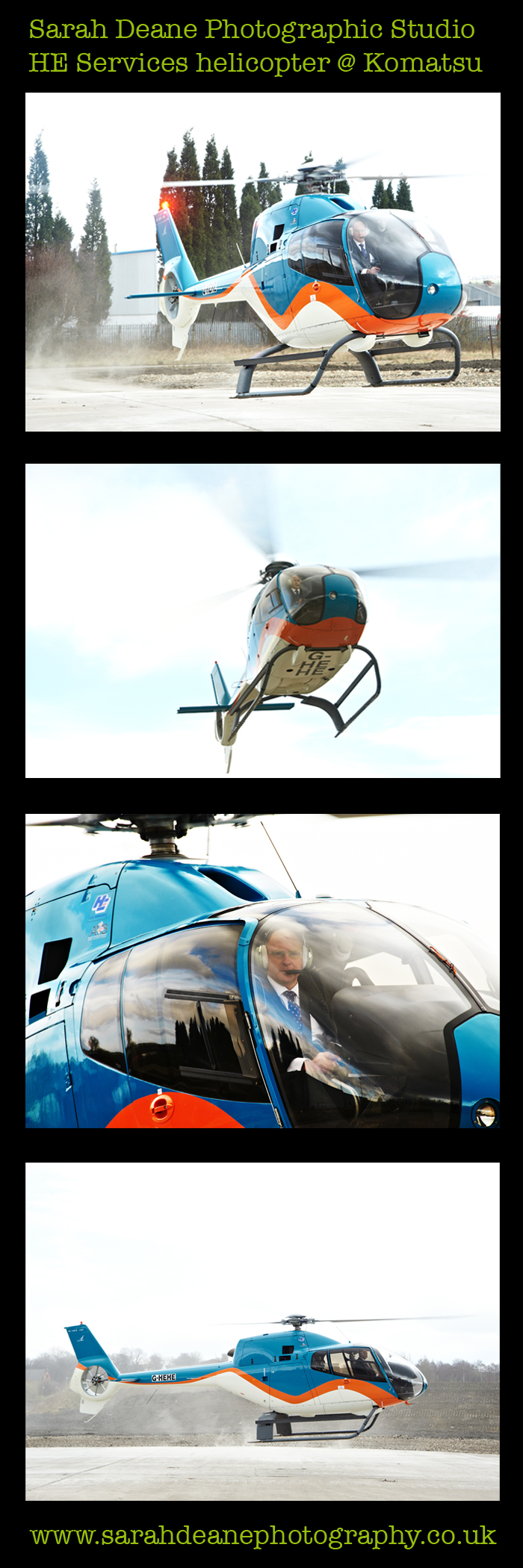 HE Services helicopter photos for Komatsu