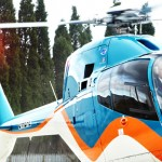 KOMATSU HE SERVICES helicopter photo