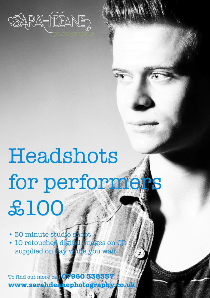 head shot photography for actors, performers and comedians in the north east & newcastle