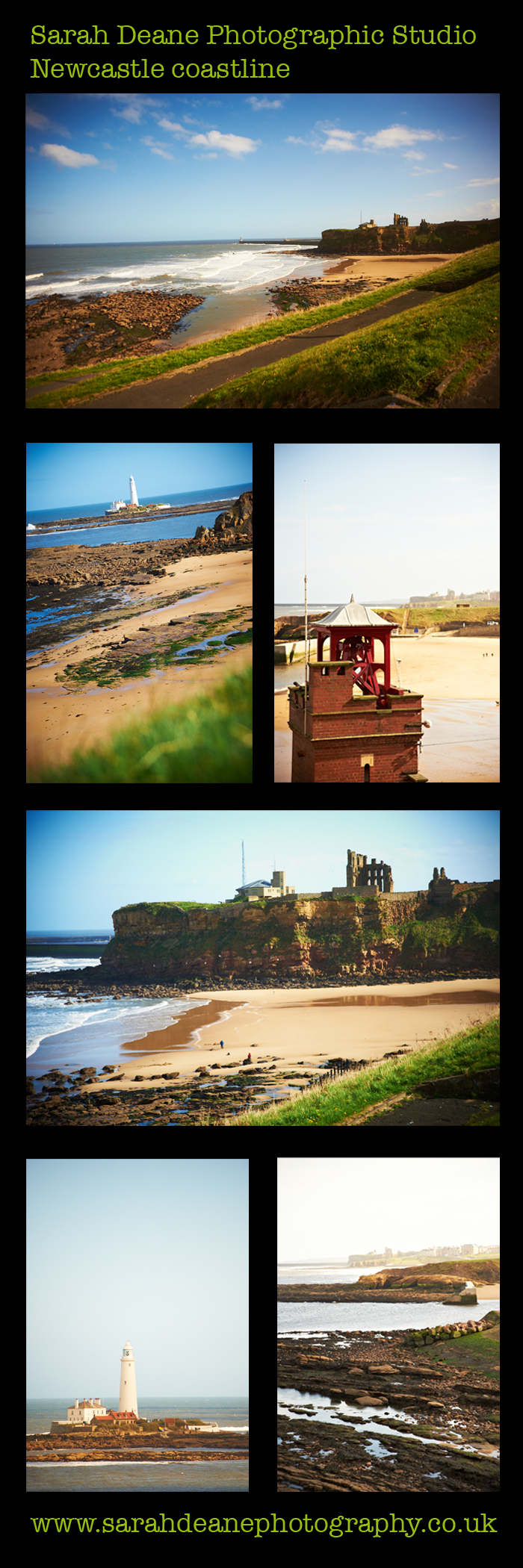 newcastle coastline, whitley bay, cullercoats, tynemout