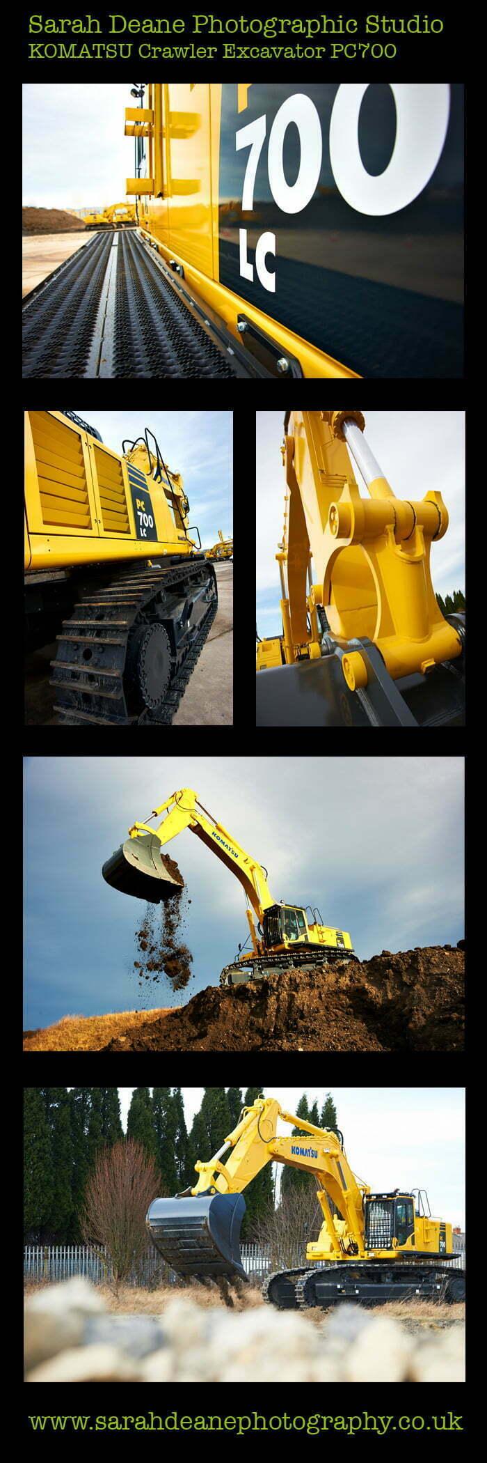 komatsu pc700 crawler excavator pics