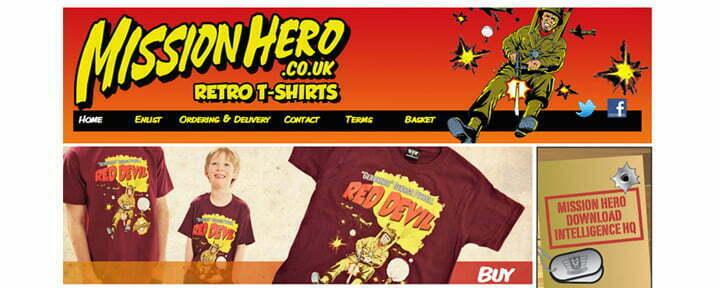 mission hero t shirts