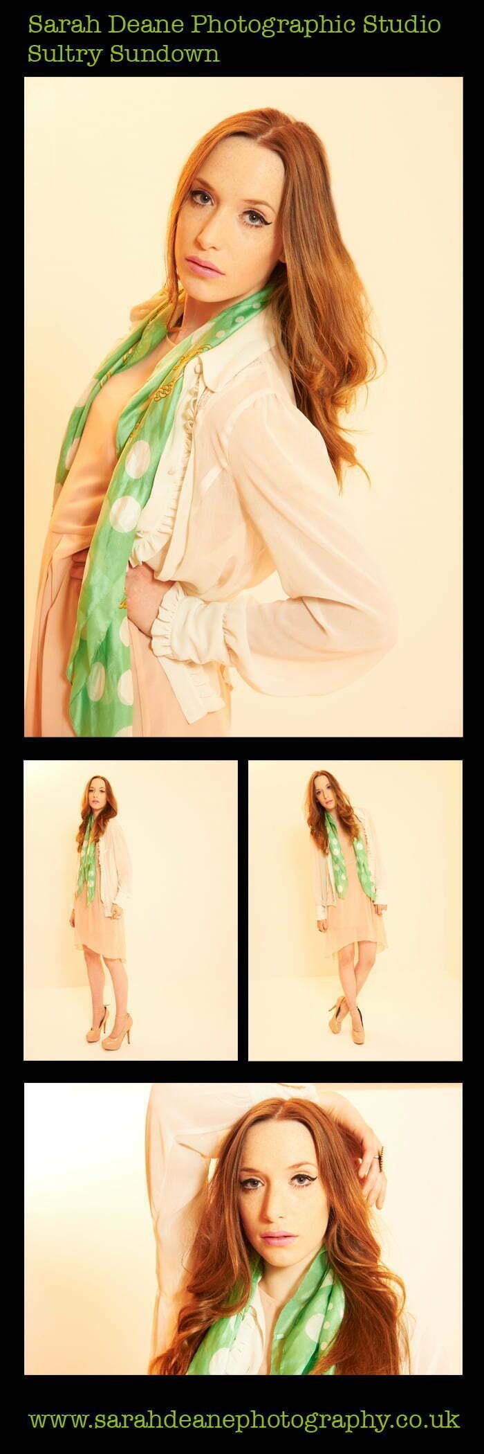 Sultry sundown fashion shoot newcastle studio
