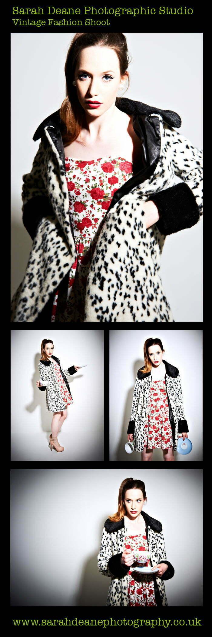 Vintage Pattern fashion shoot newcastle studio