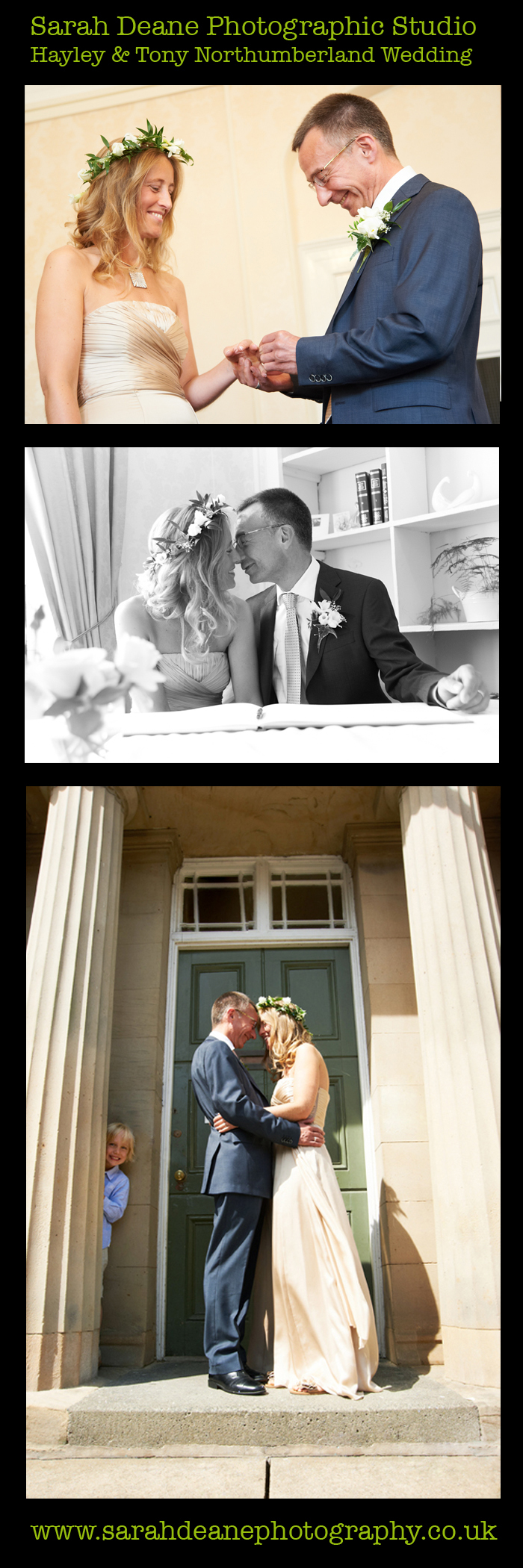 hayley and tony wedding alnwick registry office northumberland