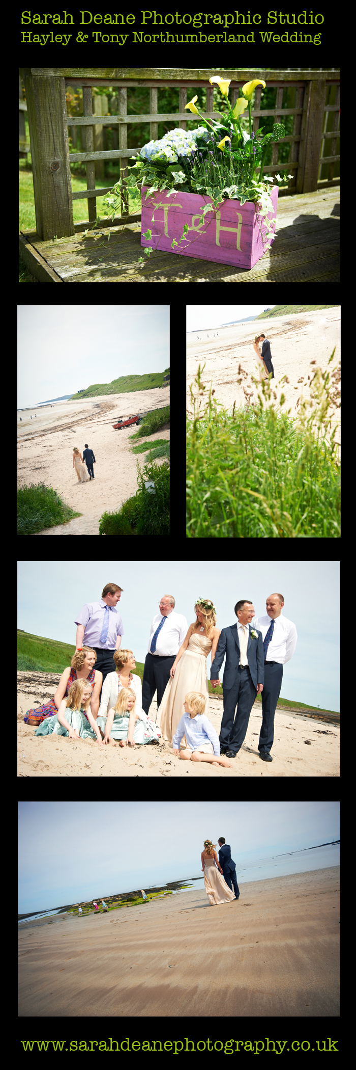 hayley and tony wedding on newton beach northumberland
