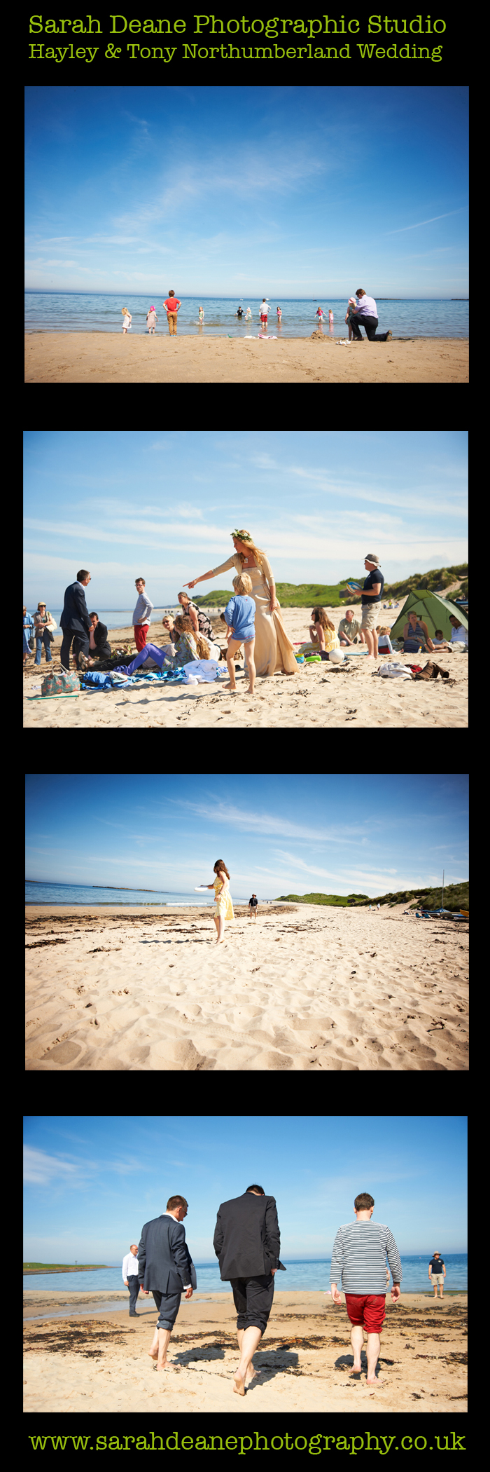 hayley and tony newton beach wedding northumberland 4