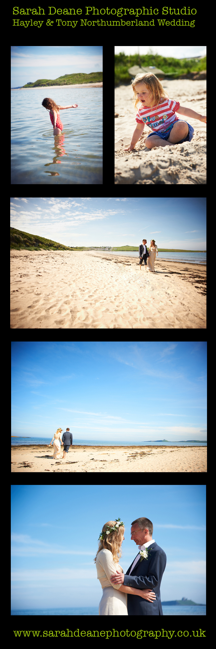 hayley and tony wedding on embleton bay northumberland
