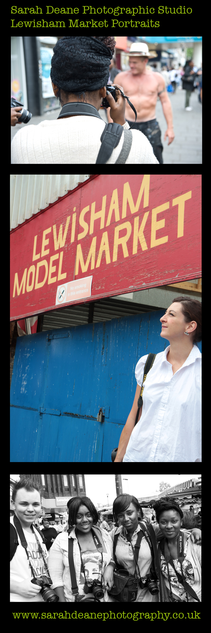 lewisham market portraits teaching photography summer workshop