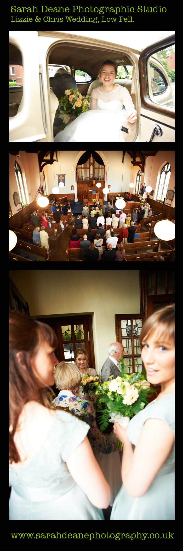 1, lizzie and chris wedding photos at low fell church, gateshead