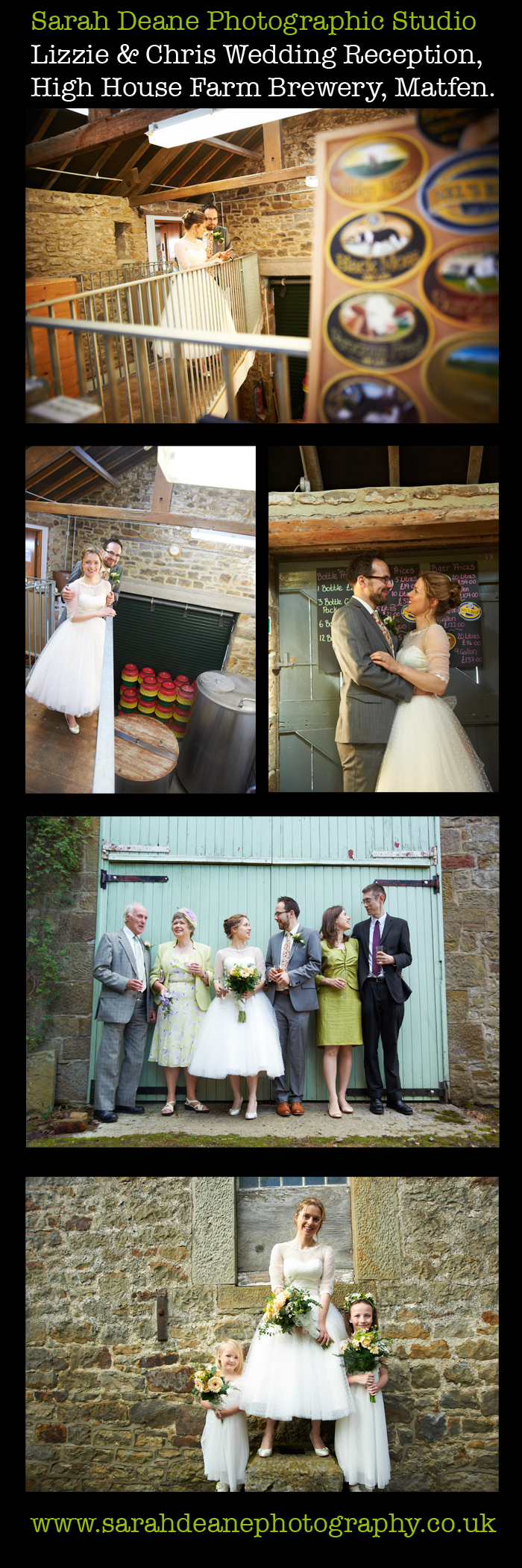 lizzie and chris wedding photos at reception, high house farm, matfen northumberland