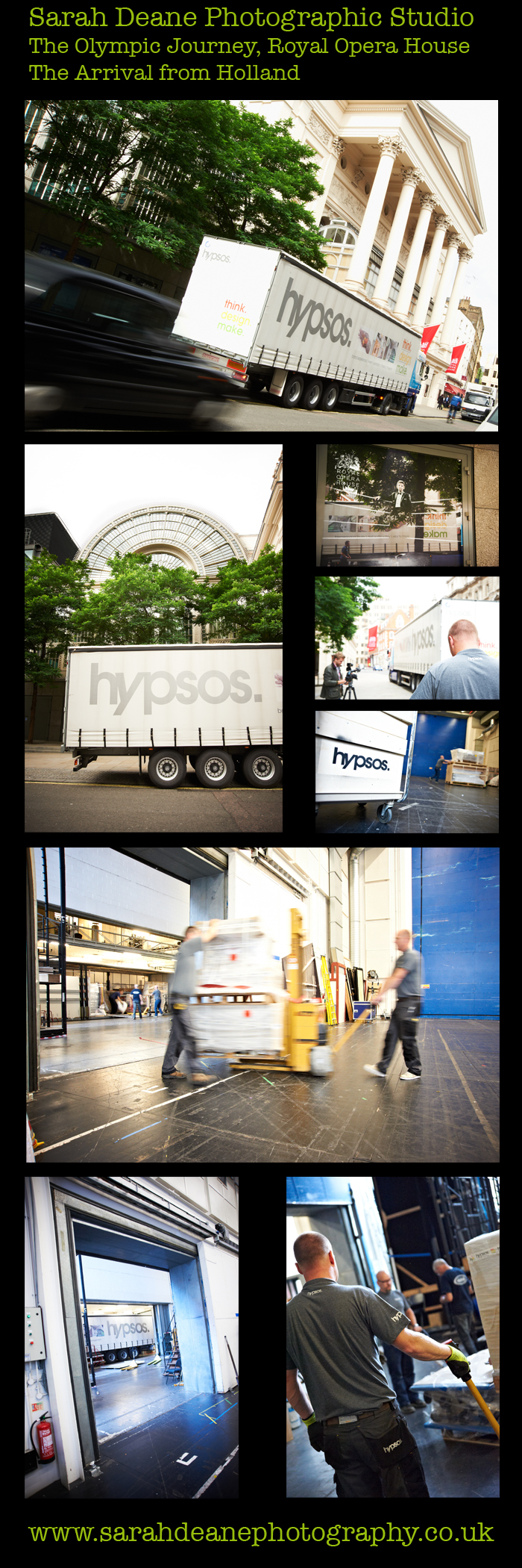 delivery of olympic journey exhibition at royal opera house london