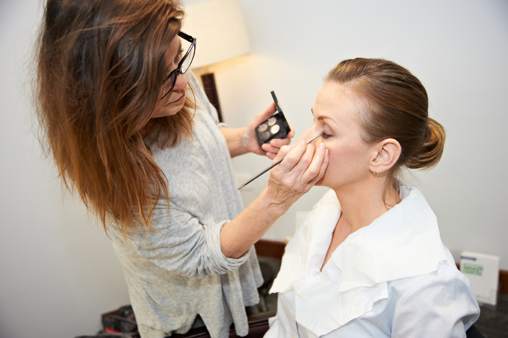 AXA healthcare insurance stand up to cancer campaign- radio therapy nurse in make up 249