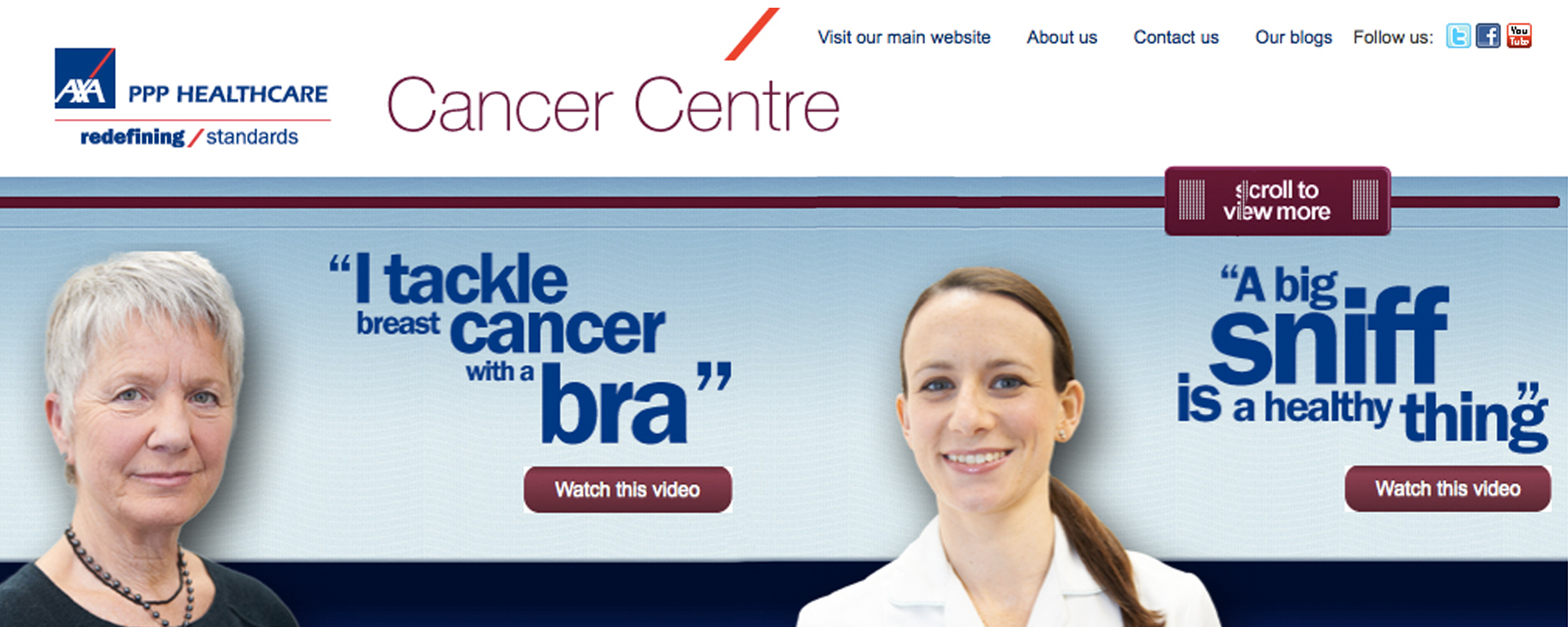 axa healthcare insurance stand up to cancer campaign at elstree hospital