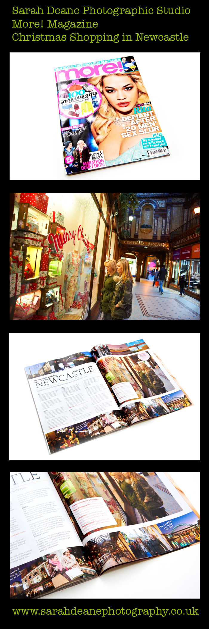 Christmas shopping photography in newcastle upon tyne, for more magazine