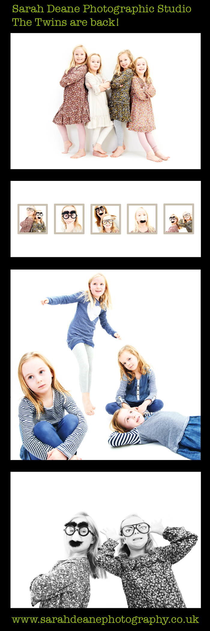 Twins children photography at the studio newcastle