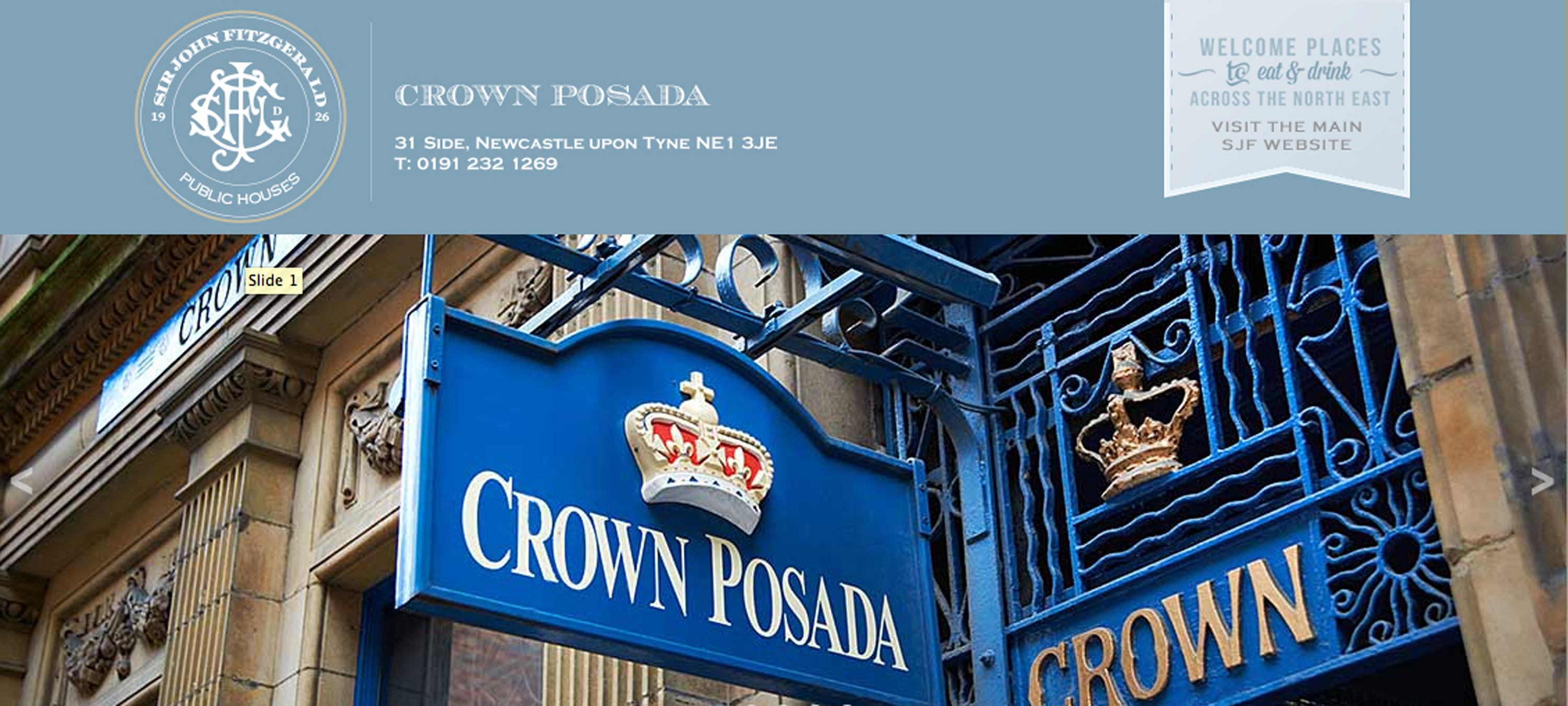 Crown Posada Newcastle SJF pub company