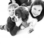 pet portraits with kids at newcastle photo studio