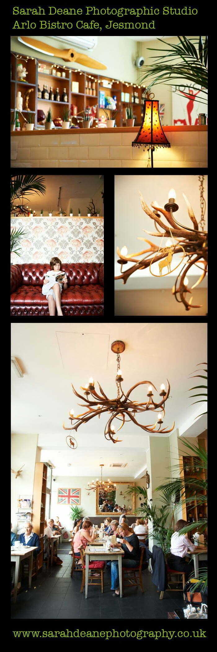 arlo cafe bistro jesmond, interior design photography