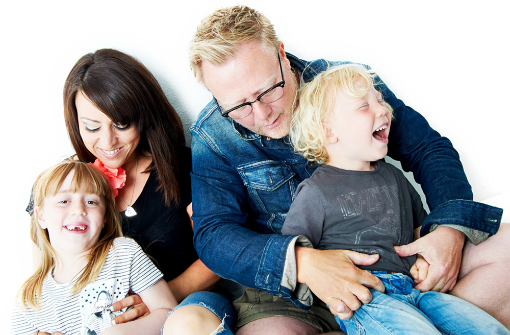family portraits taken in newcastle by sarah deane at her studio