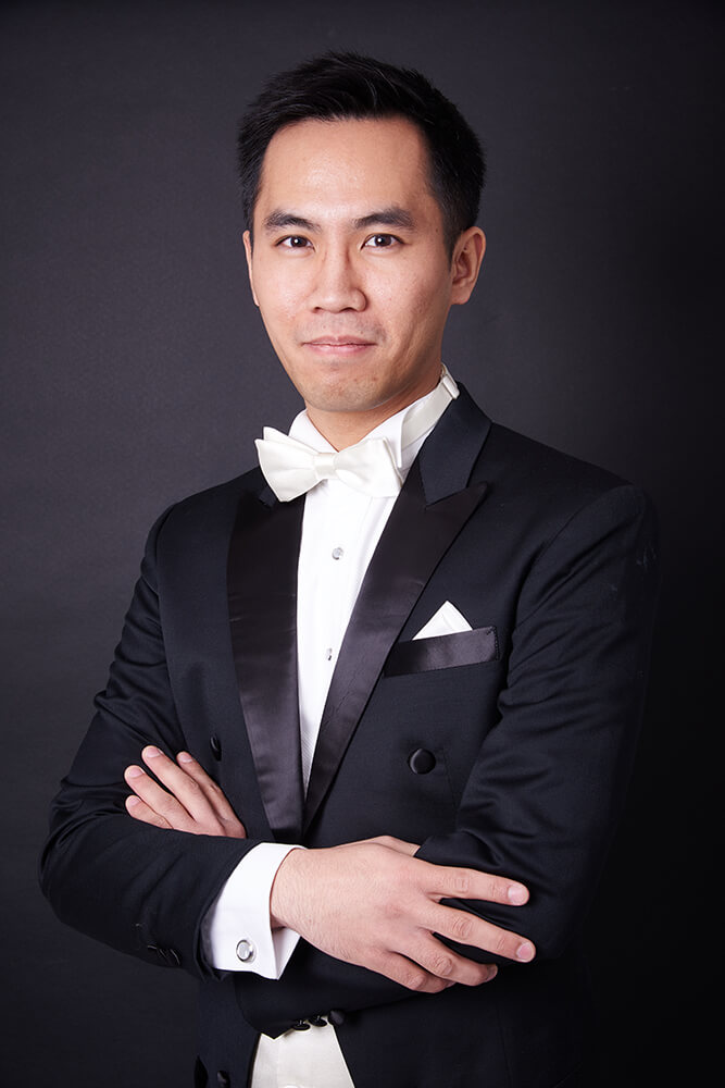 Conductor musician portraits in Newcastle Studio