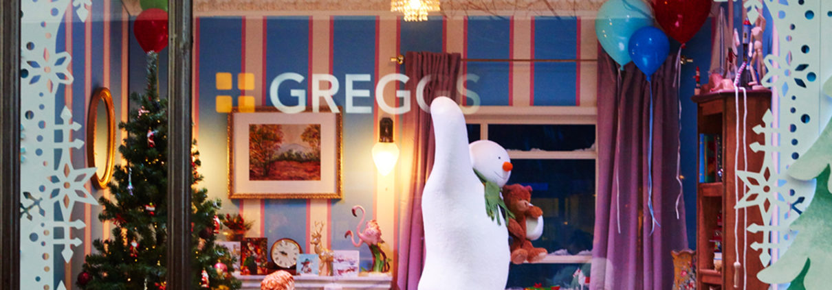 Photographer in Newcastle shoots images for Greggs on Northumberland St