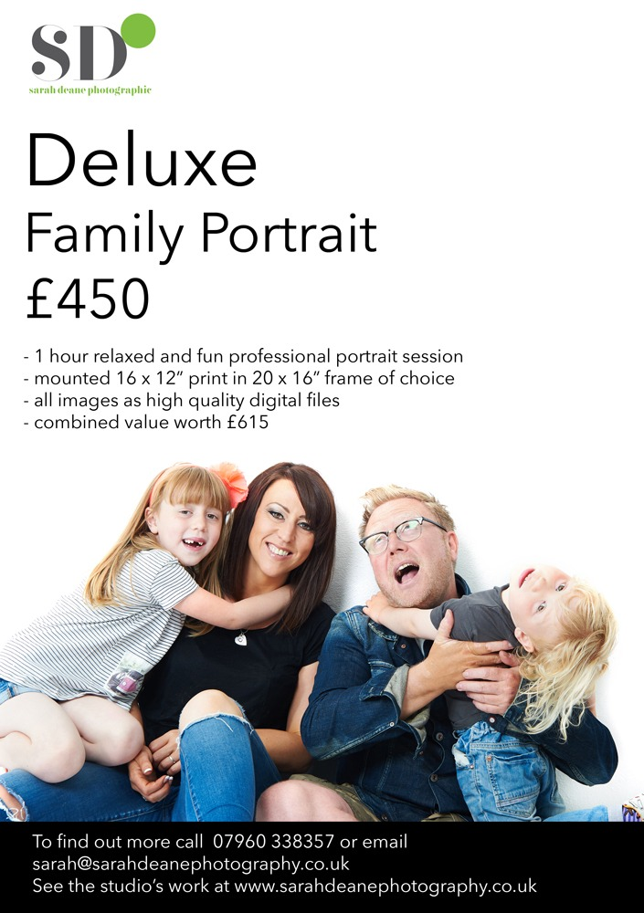 Portraits of family in Newcastle studio of a photographer who takes professional photos
