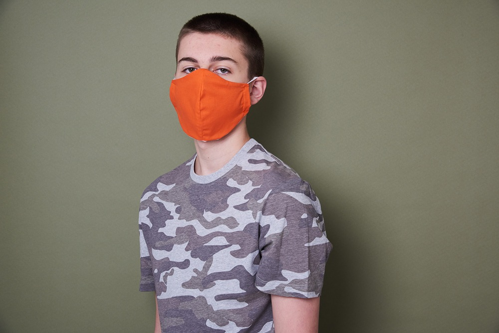 Newcastle Photography studio shootsimages of children and families for charity face masks 3