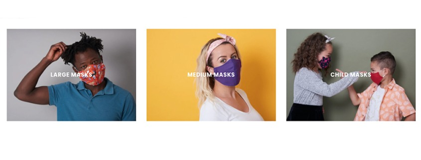 Newcastle Photography of Charity Face Masks at a Studio with Models