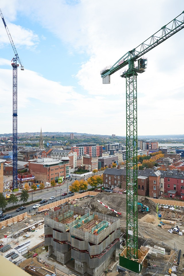 Newcastle Photography of construction at Helix taken for engineering company