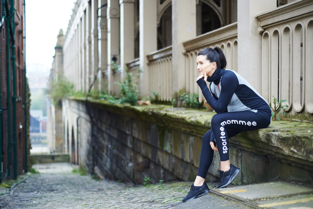 Newcastle Photography studio takes photos for Sportee Mommee fashion label maternity sports wear