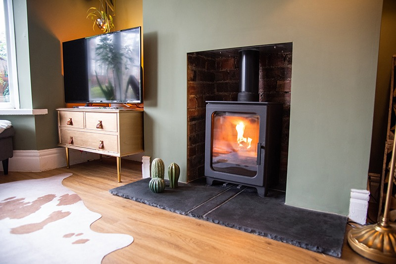 Newcastle Photography of interior design and log burner installation 6