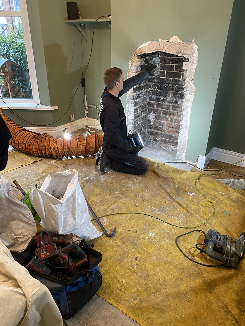 Newcastle Photography of interior design and log burner installation1